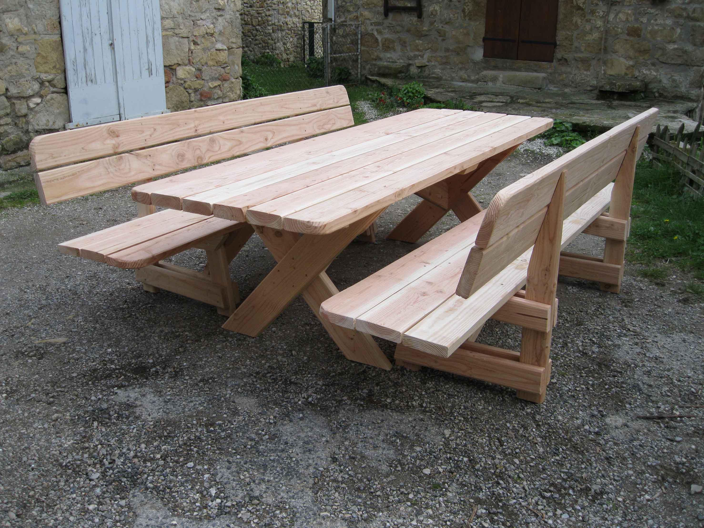 VIALA BOIS jardin de sans en Mobilier banc bois Tables A5LR4j